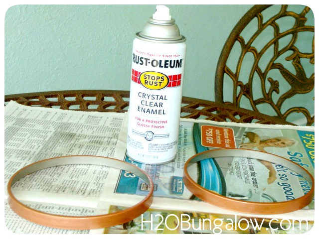Clear protective coating for DIY copper painted light fixture