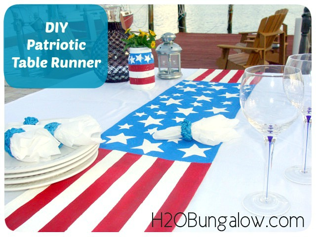 DIY-Red-White-And-Blue-Patriotic-Table-Runner-Waterside-Dining-H2OBungalow