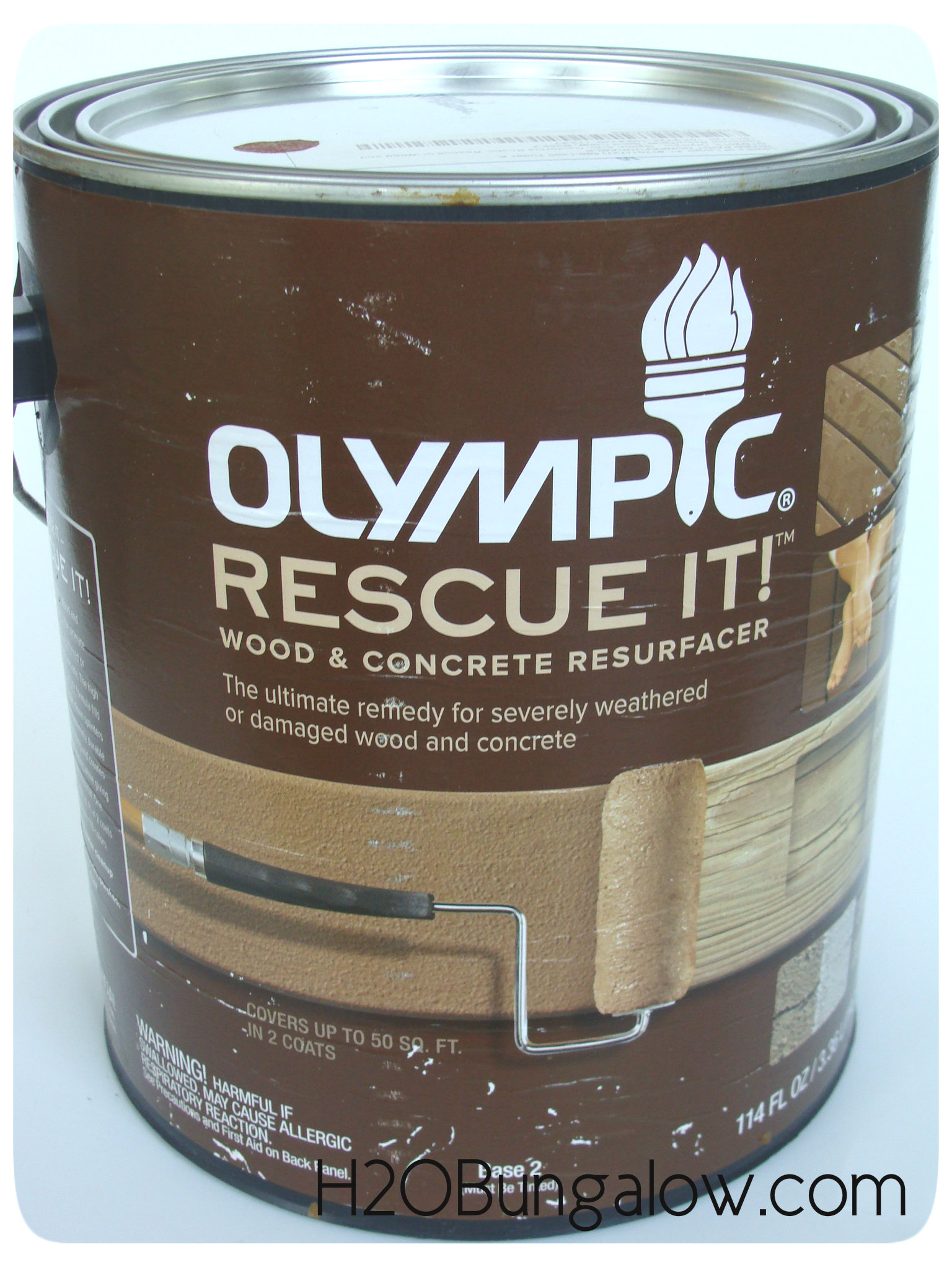 Refinish a wood deck in a day h20bungalow olympic rescue it concrete and wood resurfacer review baanklon Choice Image