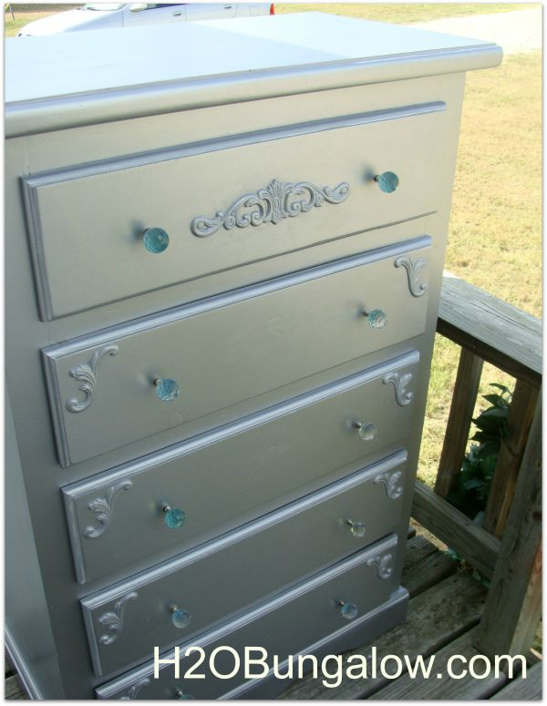 Front view glam dresser makeover H2OBungalow