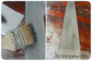 Step 2 how to paint a faux metal finish