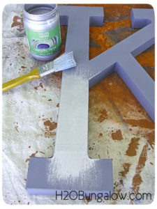 Step 1 how to paint a faux metal finish