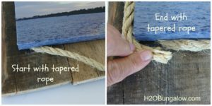 tapered rope for canvas art