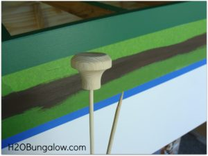 Stripe and knobs on tween furniture