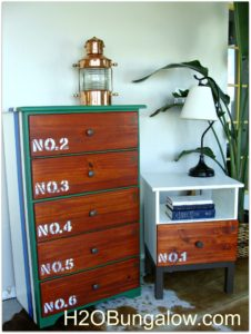 finished tween dresser and nightstand