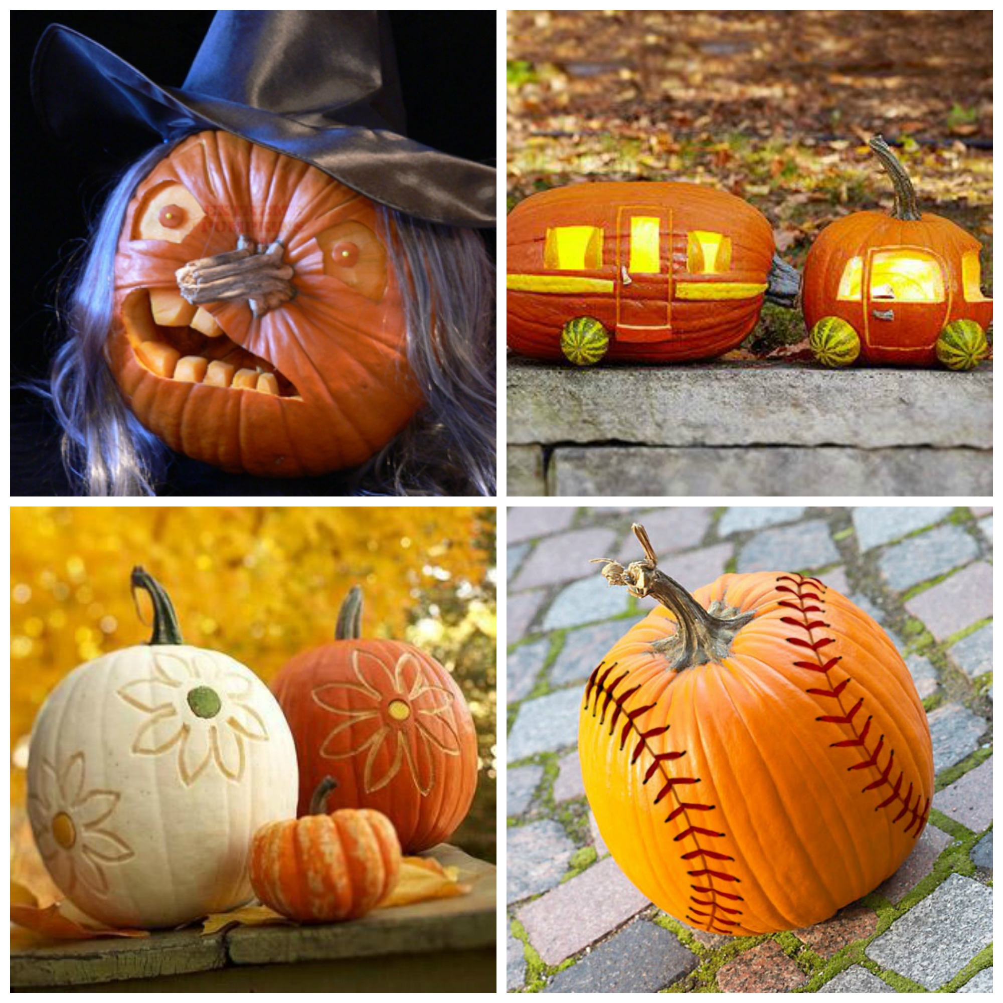 carved pumpkin decorating ideas - Pumpkin Decor