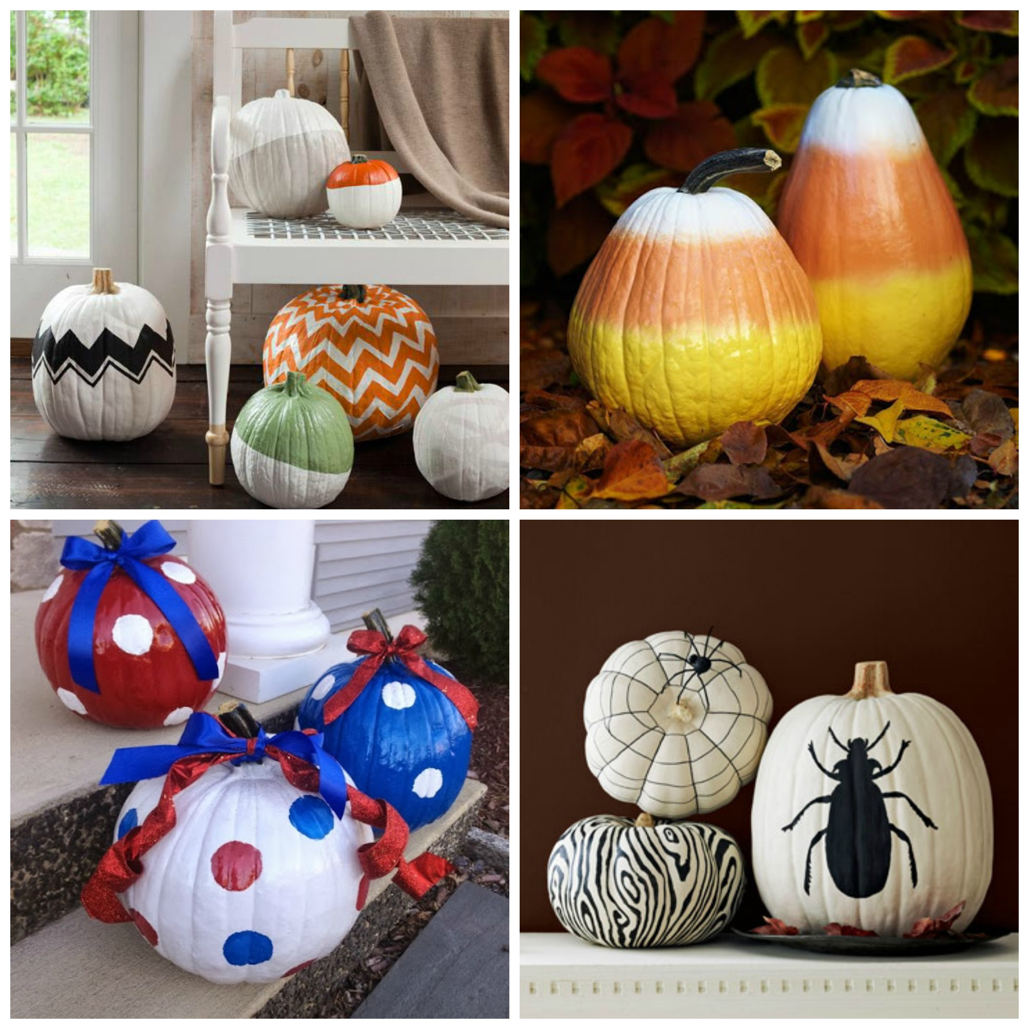 Painted Pumpkin Decorating Ideas & Pumpkin Decorating Ideas and My Curated Pumpkin Roundup - H20Bungalow