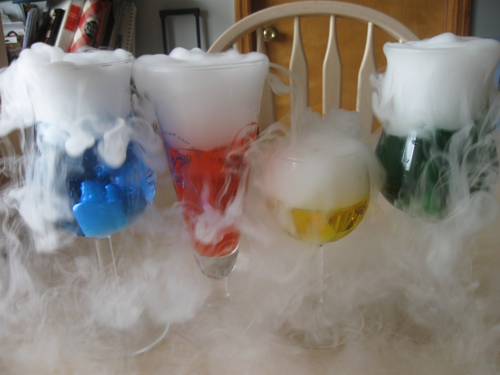 dry ice for fog effects in drinks source