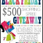 Black Friday $500 Cash Giveaway