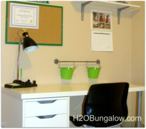 Organize a tween room with wall rails and buckets