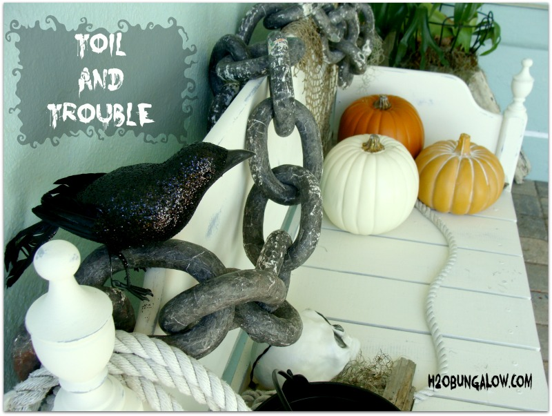 Front porch Halloween decorating ideas H2OBungalow
