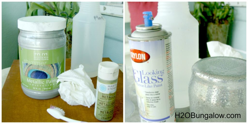 DIY mercury glass supplies