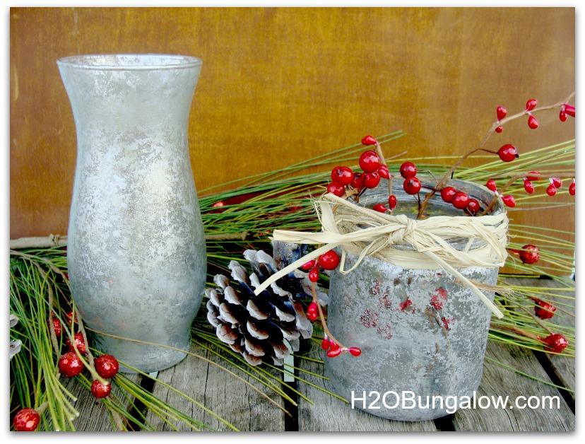finished mercury glass vases