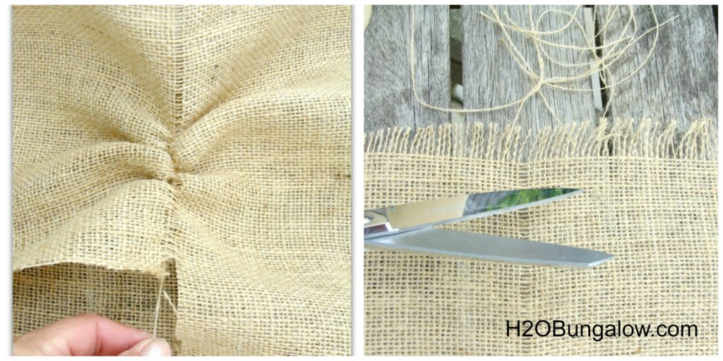 How to cut burlap for candle decorating