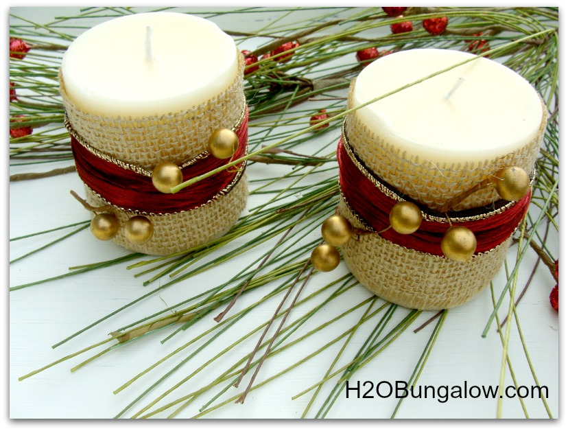 decorated Holiday candles