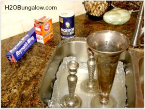 Naturally and easily clean silver wthout stinky chemicals or lots of work using ingredients from your kitchen. It WORKS! www.H2OBungalow.com #cleaning #greencleaning