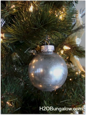 Mercury Glass Christmas Tree Ornament