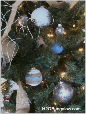mercury glass ornament on tree