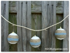 easy coastal Christmas ornaments
