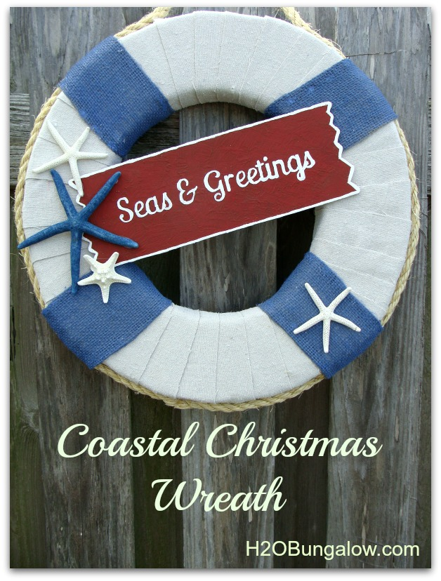 Nautical Christmas Wreath.Coastal Christmas Wreath