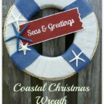 Easy DIY Coastal Christmas Wreath and Free Printable