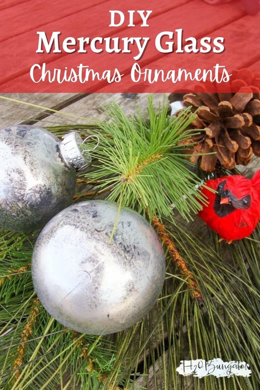 Diy Mercury Glass Christmas Tree Ornament H2obungalow