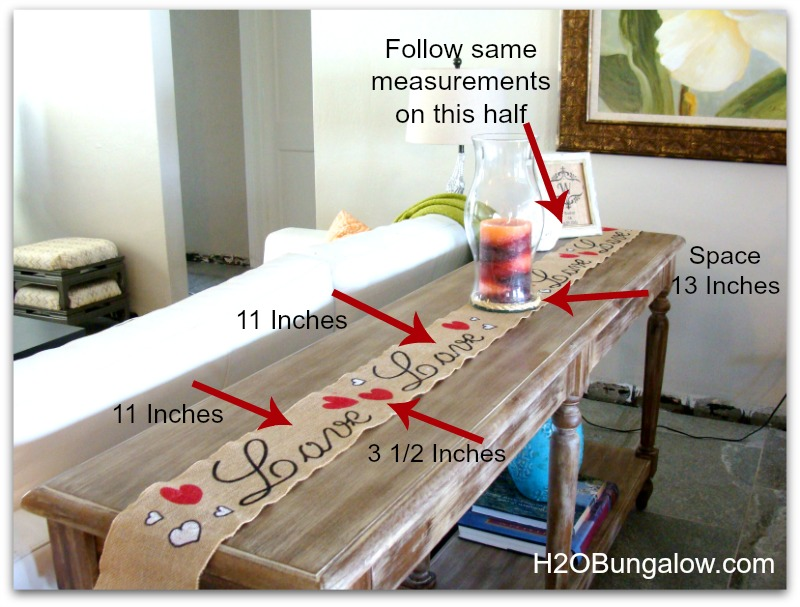 Superb ... Make Table From Table Runner Runner Burlap Sew Use H2OBungalow Day To  What No Valentines Size ...