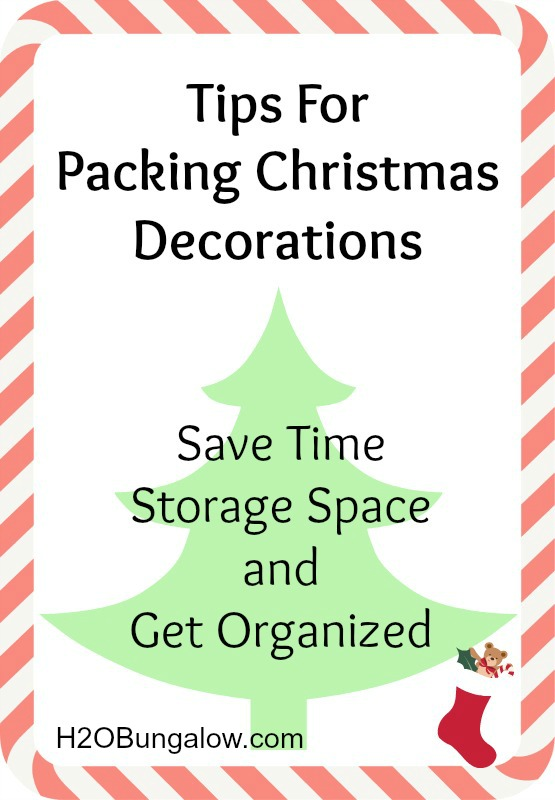 Tips For Packing Christmas Decorations ~ Save Time, Storage Space And Be Organized!
