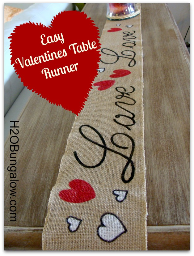 Easy Valenines Day Table Runner Takes No Time At All To Whip Up And S Easily