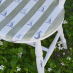 DIY Striped Nautical Chair