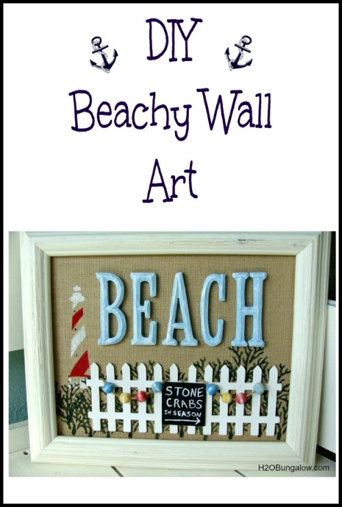 Easy DIY Beachy Wall Art