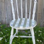 Sailboats and Stripes DIY Nautical Accent Chair