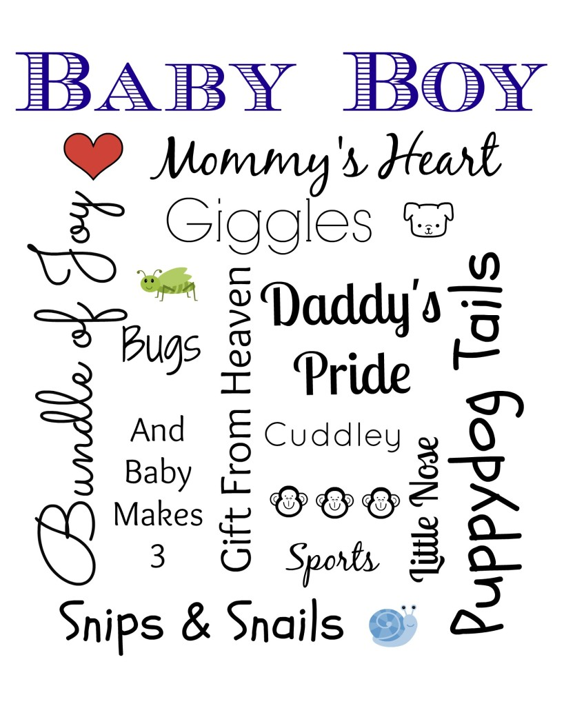 Baby Boy Subway Art With Free Printable