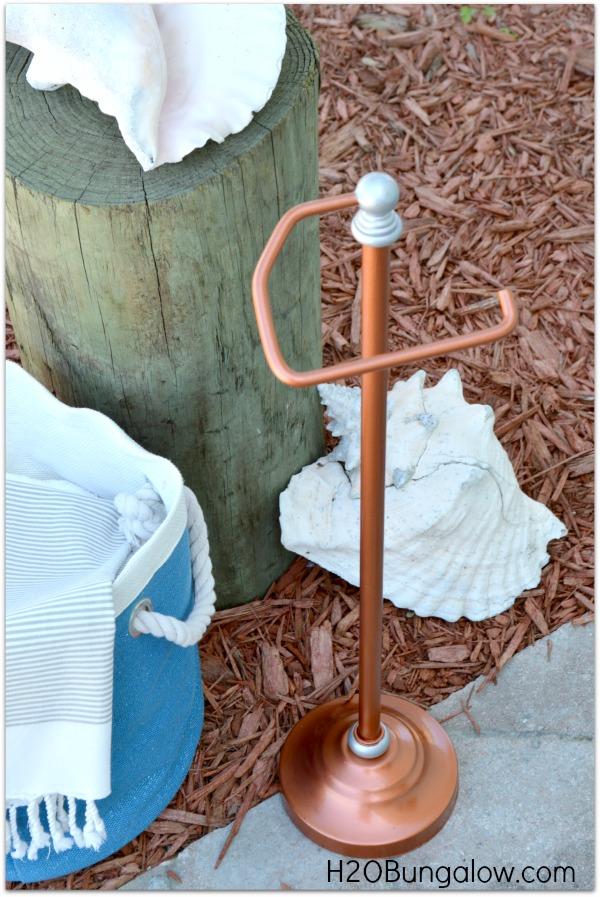 Finished DIY Copper Toilet Paper Holder