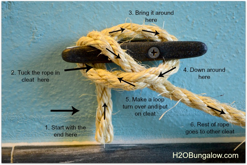 diy nautical towel knot instructions