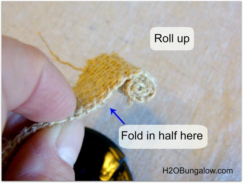 how to make rosebud burlap flower