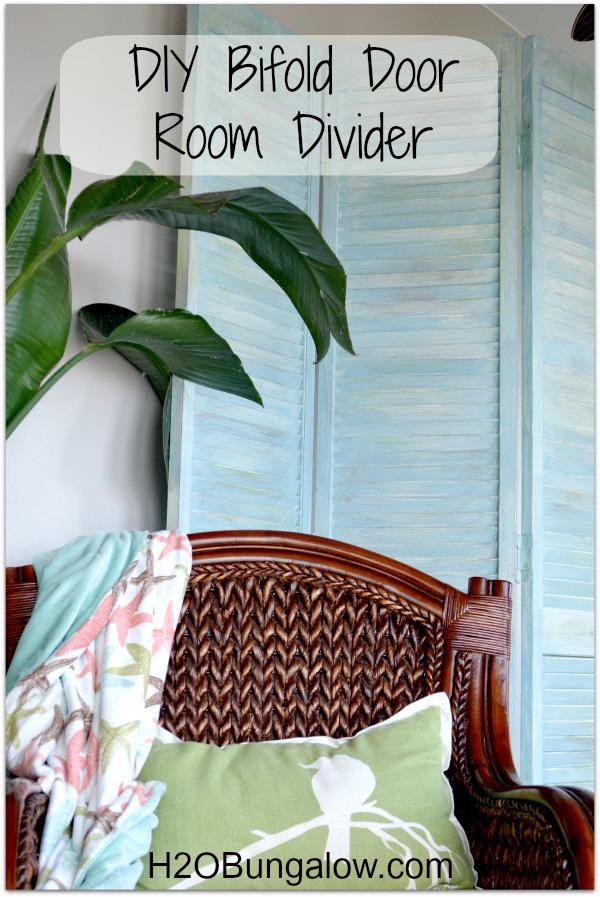 DIY Bifold Door Room Divider