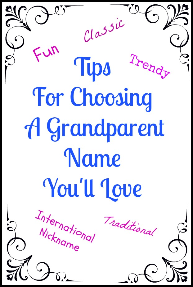Your grandparent name is special and long lasting, why not choose a name you love, or let your grandchild choose for you? Filled with good tips and beautiful reader comments about their own grandparent name stories. H2OBungalow.com
