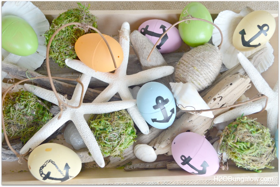 DIY Nautical Easter Eggs