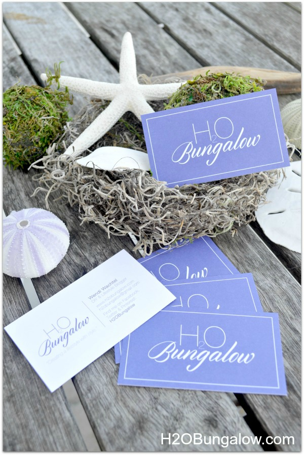 H2OBungalow-business-cards-for-bloggers cards