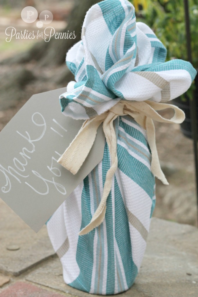 Hostess-gift-dishtowel-wrapped-wine