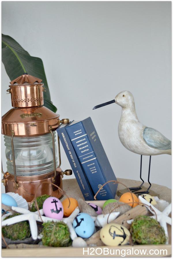 Nautical Easter egg display