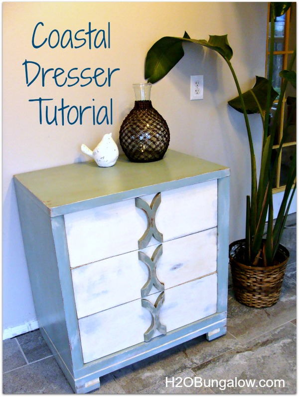 Painted Coastal Dresser Tutorial by H2OBungalow