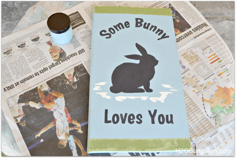 add details to the bunny sign