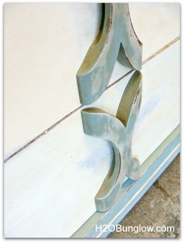 close up of handles on coastal dresser by H2Obungalow