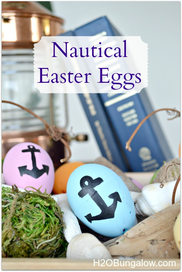 Nautical Easter eggs by H2OBungalow