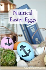 nautical Easter eggs by H2OBungalow #coastalleaster #easter