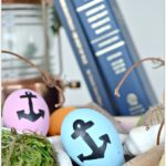 Easy DIY Nautical Easter Eggs