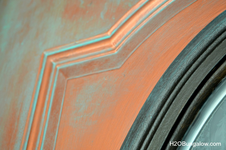 Detail-Of-Faux-Painted-Aged-Copper-Patina-Front-Door-H2Obungalow