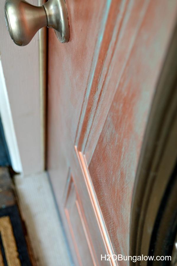 DIY faux painted copper front door tutorial www.H2OBungalow.com #fauxpainted